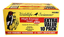 Wild Birds Food Suet Cakes High Energy Eco Friendly Packaging 10 Pieces 10.5 Oz