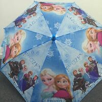 Disney Frozen Anna and Elsa Girls Kids Umbrella with Whistle