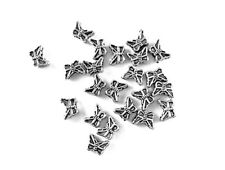 Antique Silver Plated Lead Safe Alloy 5x7mm Tiny Butterfly Moth Bead Q100