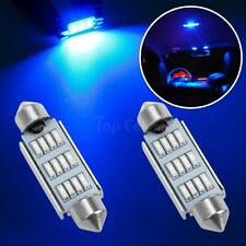 2x Blue 12-SMD LED Interior Dome Map Lights for Ford for GMC 42mm 12V