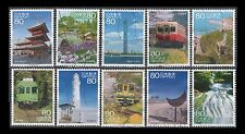 Japan 3558a-j Scenery of the Trip 18 [10 USED Stamps]