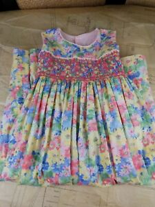 Handmade Floral Cotton Sleeveless Pleated Boutique Dress Sz 10-12 Pics PERFECT