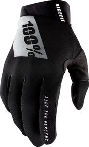 100% Ridefit Gloves - Black/White / All Sizes