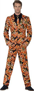 """Pumpkin Suit, with Jacket, Trousers & Tie -  (Size: Chest 38""""-40"""", .. COST-M NEW"""
