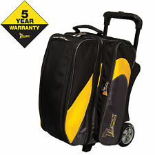 Track Premium Player Double Roller 2 Ball Bowling Bag Yellow/Grey