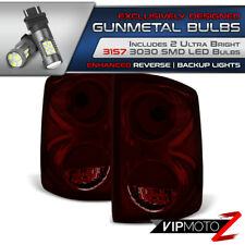 Dark Smoke Tail Light Rear Brake [05-11 Dodge Dakota] High Power LED BackUp Bulb