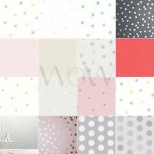 Polka Dots Wallpaper - Various Dot Sizes Available Metallic Glitter & More