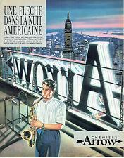 Publicité Advertising 107  1984  chemises homme Arrow  fleche nuit américaine