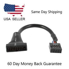 USB 2.0 9 Pin Header female to Motherboard USB 3.0 20 Pin male Cable 10cm HM