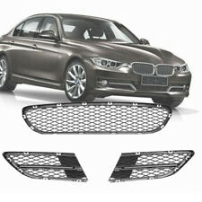3PCS Front Lower Bumper Grille Grill Kit FOR BMW 3 Series E90 E91 325i 328i
