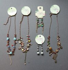 5 Pc New Vintage Antique Style Boho Mixed Jewelry Lot Earrings Necklaces