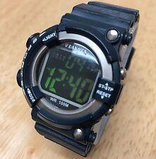 Dakota Hombre Mujer 100m Asimétrico LCD Alarma Digital Reloj Crono Horas ~ Nuevo