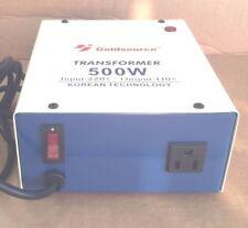 CONVERTER TRANSFORMER STEP DOWN 500W 220V TO 110V FOR USE YOUR USA APPLIANCES