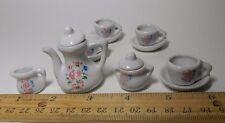 13 Piece Micro Mini Porcelain Tea Set