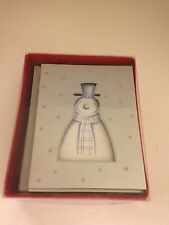 The Gift Wrap Company 20 Luxury Holiday Snowman Greeting Cards Silver New Opened