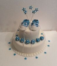 Baby Converse Cake Topper - Any Name - Christening - Birthday - Cake Decoration