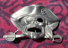 PIRATE BELT BUCKLE NEW ONE EYED PATCH