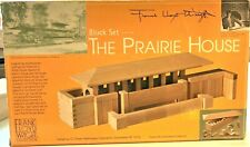 HTF Frank Lloyd Wright PRAIRIE HOUSE Architectural Wood Block Set #50-7300