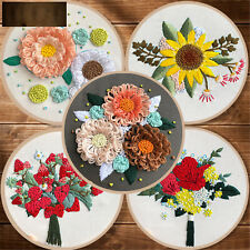 Embroidery Starter Stitch Kits Handy Sewing Craft Needlework at Home