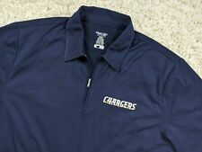 Reebok San Diego Chargers 1/4 Zip Polo Shirt Men Large Blue NFL Football