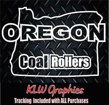 Oregon Coal Rollers * Vinyl Decal Powerstroke Diesel Truck 1500 2500 Lift Kit