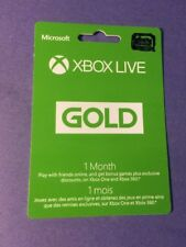 XBOX LIVE GOLD Membership Card [ 1 Month ] (XBOX ONE / XBOX 360) NEW