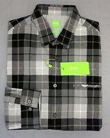 NWT $125 Hugo Boss Gray Shirt LS Mens L XL XXL C-Bansi 50326492 001 Regular Fit