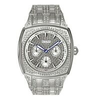 Bulova Men's Quartz Swarovski Crystal Accents Pave Multi Dial 40mm Watch 96C002