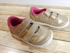 Stride Rite SR shoes infant baby toddler girl gold golden size US 6