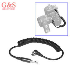 """3.5mm 1/8"""" Plug to Male FLASH PC Sync Extend Spring Cable Cord with Screw Lock"""