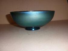Rare vintage Steuben signed Auerene blue bowl