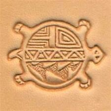 8455 Round Turtle Craftool 3-D Stamp Tandy Leather 88455-00
