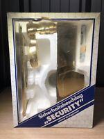 Sicherheitsbeschlag 150/202-338/203 DIN Rechts 92mm PZ Schildhöhe 10 mm Messing