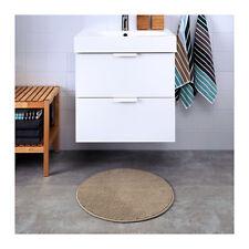 IKEA BADAREN Non-Slip Microfibre Bathroom Round Bath Mat Bathmat Rug 55cm Beige