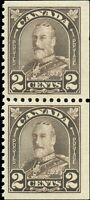 Mint NH Canada BKLT PAIR 1931 F-VF Scott #166as King George V Arch/Leaf Stamps
