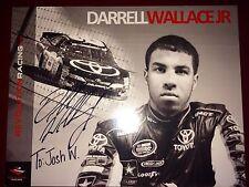 Darrell Wallace Jr NASCAR racing race car driver auto autograph photo card Bubba