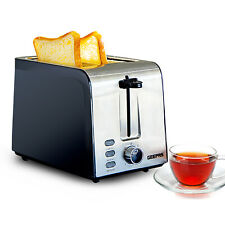 Geepas 2 Slice Bread Toaster 7 Browning Levels 850W Wide Slots Led Indicator