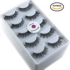 10 Boxes Real Mink 3D False Eyelashes Natural Winged Handmade Lash 5Pair/Box A04
