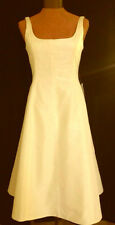 NWT J Crew Whitney Flared Dress Italian Silk Faille Ivory  SZ 6 $295 Bridesmaid