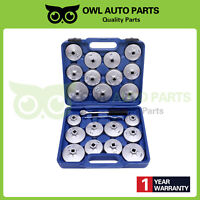 23Pcs Cup Type Aluminium Oil Filter Wrench Removal Socket Remover Tool Set Kit