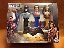 SUPERMAN PEZ SUPER HEROS COLLECTION INCLUDES BATMAN & WONDERWOMAN-PRISTINE