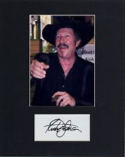 KINKY FRIEDMAN CUSTOM 8 by 10 MATTED REPRINT PHOTO & REPRINT  AUTOGRAPH