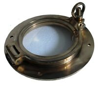 "Marine BRASS PORT HOLE / Window / Porthole - 4"" GLASS - TOUGHENED GLASS"