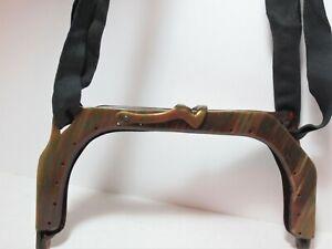 Vtg Antique Celluloid Purse Frame Ribbon Marbled Hinged Clasp Handbag Bag Mount