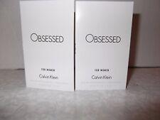 Women's Calvin Klein Obsessed For Women Eau De Parfum sample spray 2 x 1.2ml New