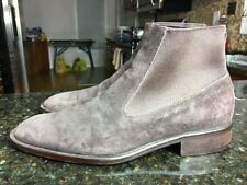 DONALD J. PLINER Boots Brown Suede Pull On Ankle boot Sz 9 M Italy NICE
