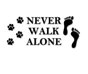 Never walk alone Aufkleber Sticker Hunde Gassi Autoaufkleber decal 24 #8174