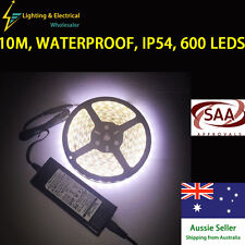 10M Cool White Strip Light Kit Flexible SAA Approved Dimmable Waterproof 12V