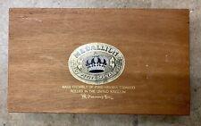 "MEDALLION Vintage Wooden Cigar Tobacco Box 11x7"" Great Condition"