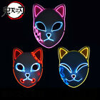 Demom Slayer Blade Glowing Led Mask Tanjiro Mask Anime Cosplay Props For Sale